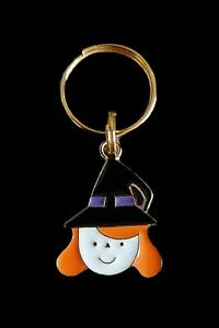 HALLOWEEN Dog Cat Collar Charm - Cute Little Ginger Haired Witch