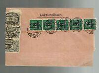 1923 Leipzig Germany Inflation Wrapper cover from Gebr Naumann