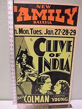 1935 Original Clive of India Movie Poster Ronald Colman Loretta Young