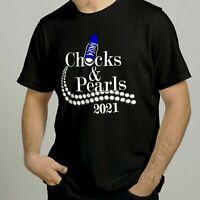 Chucks and Pearls 2021 Harris Biden Sororities Perfect Gift Line Sisters T-shirt