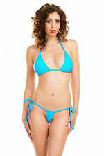 Wicked Micro Brazilian Bikini Blue Tie Side 8/10/12