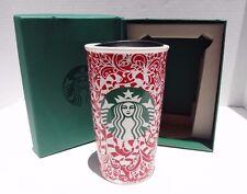 Starbucks Mermaid Candy Cane Travel Tumbler 2016 12oz Mug Holiday Exclusive Red