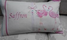 2 X PERSONALISED CUSHION COVER IN LAURA ASHLEY PINK FLAMINGO /AUSTEN IVORY