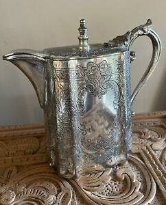 Antique Vintage Angus & Coote Silver Coffee Pot - Made In England