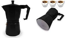 Espresso Stove top olla cafetera Continental Moka Cafetera De Filtro 3 taza negra