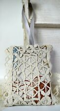 Shabby Chic Organic Lavender Pillow Sachet Vintage Doily Lace Crochet
