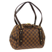 LOUIS VUITTON RIVINGTON PM SHOULDER BAG DU3150 DAMIER EBENE N41157 AUTH 00892