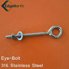 316 Stainless Steel Eye Bolt - Shade Sail ,Tent Boat Camping Outdoor 8mm