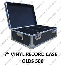 "7"" Singles Vinyl Record Aluminium DJ Flight Carry Case Black 500 Tough Strong"