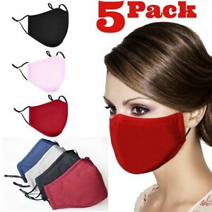 Adjustable ADULT Triple Layers Cotton Washable Reusable With Pocket Face Mask