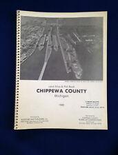 1980 Chippewa County Michigan Land Atlas & Plat Book Original Vintage E4676