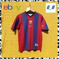 VINTAGE NIKE BARCELONA BARCELLONA FOOTBALL JERSEY MADE IN TAIWAN Y-XL BARÇA 90's