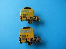 2, Vintage SHELL Oil / Petrol Company Truck / Lorry Cab Pin Badges.