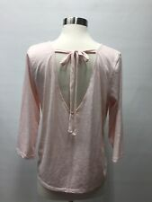 NWT J CREW TIE-BACK T-SHIRT Top Blouse H3810 Pink Size M Medium