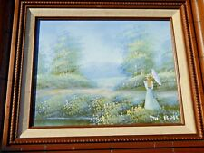 VINTAGE ORIGINAL ~DU BOIS OIL PAINTING~SIGNED~  FRENCH IMPRESSIONIST~FINE ART~a1