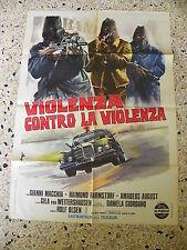 U8 MANIFESTO ORIGINALE 2F VIOLENZA CONTRO VIOLENZA AUTO CAR MERCEDES
