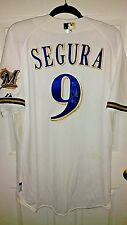 milwaukee brewers jean segura signed opening day game used jersey