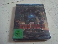 IRON MAN 3  Blu-Ray RARE oop SteelBook *new* MARVEL Robert Downey jr. Guy Pearce