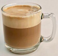 2 Nespresso Glass Coffee Mugs...9oz ..Cups for Cappuccino, Espresso Coffee