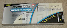 Over the Door Wonder Hanger-Chrome/Metal-AS SEEN ON TV-Coat/Closet/Organize-New!