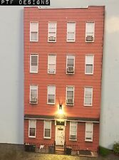 """*O Scale Scratch Built """"APARTMENT #8"""" LED Building Front Flat MTH Lionel NEW!"""