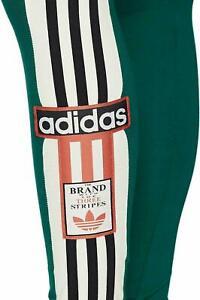 adidas Originals Women's Trefoil Green Leggings Running Gym UK 8,Small-NEW