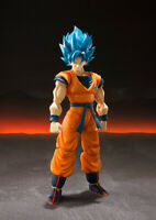 Bandai S.H. Figuarts DragonBall Super Broly: Super Saiyan Goku God NUOVO