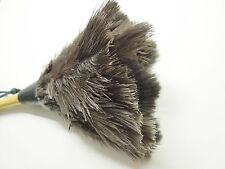 """Voiture valet de nettoyage autruche plumeau avec manche en bois petit 11"""" 28cm"""