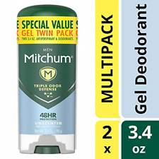Mitchum Antiperspirant Deodorant Stick for Men, Triple Odor Defense Gel, 48 Hr