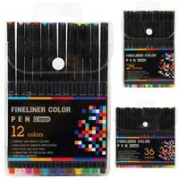 Fine Liner Paint Marker 0.4mm Drawing Sketching Writing Set Pen Coloring F8U6