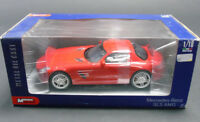 Mondo Motors 1:18 Scale Mercedes Benz SLS AMG Red Diecast Model Car Toy Gift New