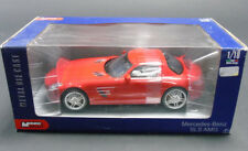Mondo Motors 1:18 Scale Mercedes Benz SLS AMG Red Diecast Model Car Toy Gift New