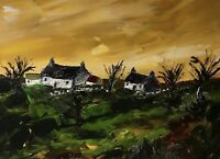ORIGINAL PAINTING Acrylic On Canvas 'Welsh Farm'40x30cm
