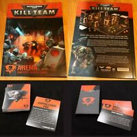 --- KILL TEAM ARENA : CARDS & BOOK --- missions objectives tactics warhammer 40k