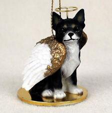 CHIHUAHUA (BLACK) ANGEL DOG CHRISTMAS ORNAMENT HOLIDAY  Figurine Statue