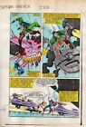 1983 Zeck Captain America 288 Marvel Comics color guide artwork page 14: 1980's