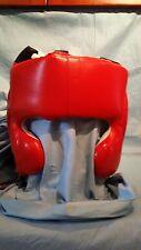 Leather Full Face Head Gear (ADULT MED-REG)