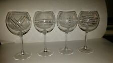 4 ARC Made In France Balloon Modern Cut Wine Glasses