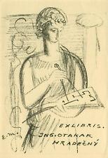 Ex libris  Masonic Exlibris by MILEN EDUARD (1891 -1976) Czech