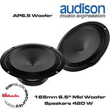 """Audison AP6.5 - 6.5"""" 165m m Midbass Speaker Door Speakers 420 Watts Total Power"""