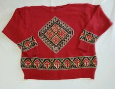 Vintage Nautica Sweater Mens Size Large Tribal Pullover Knit