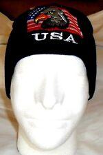 USA FLAG & EAGLE  Patriotic Watch Cap Beanie Winter Ski Hat Toboggan