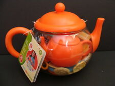 NEW Just Like Home Tea Pot Storage Set Orange Play Dishes Food 35 Piece Kitchen