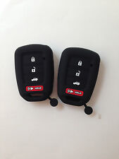 2pcs black Fob Remote Key case Cover Holder for 2013-2017 Honda Accord sports