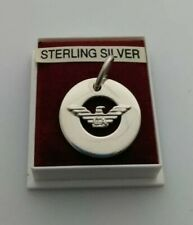 Sterling Silver 925 Pendant With Armani Symbol On The Front