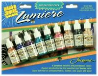 Jacquard Lumiere HALO & JEWEL - Metallic & Pearlescent Colors Ink 14ml Air Brush