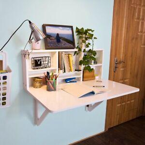 SoBuy Wandklapptisch mit integriertem Regal, Küchentisch, Esstisch FWT07-W