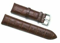 22mm Brown HQ Alligator Grain Leather Replacement Watch Band - Tommy Hilfiger 22