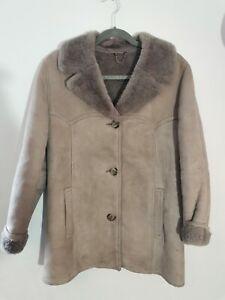 RARE VINTAGE RETRO WOMENS LADIES MORLANDS REAL LAMBSKIN SHEEPSKIN COAT UK 10