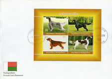 More details for madagascar 2018 fdc show dogs 4v m/s cover pet dog stamps